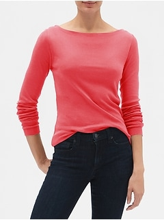 Favorite Long Sleeve Boatneck T-Shirt