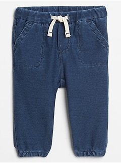 Baby Pull-On Denim Joggers