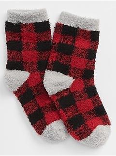 Cozy Plaid Crew Socks