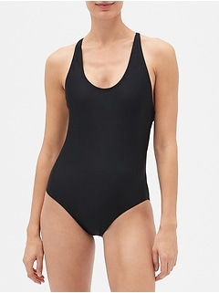 Crossback Swim One-Piece
