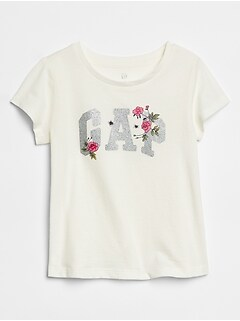 Toddler Metallic Gap Logo Short Sleeve T-Shirt