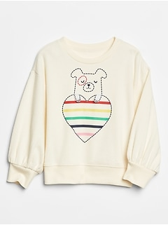 Toddler Graphic Puff-Sleeve Sweatshirt