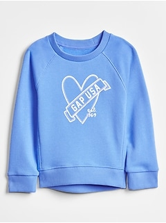 Graphic Crewneck Sweatshirt in French Terry