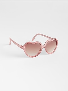 Glitter Heart Sunglasses