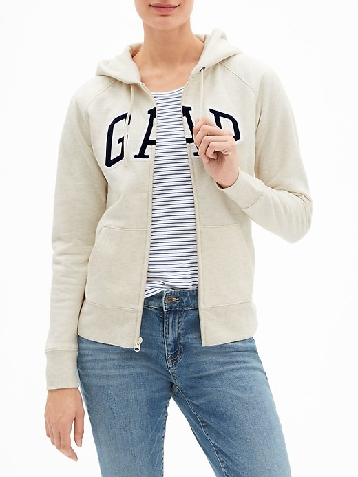 GAP Arch Logo Zip Hoodie in Fleece