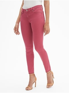 Mid Rise Curvy Legging Skimmer Jeans with Raw Hem