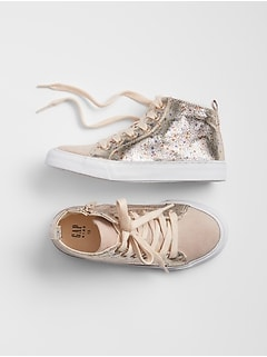 Glitter Hi-Top Sneakers