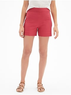 "High Rise 4"" Side-Zip Shorts"