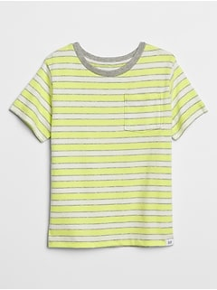 Toddler Stripe Pocket Short Sleeve T-Shirt