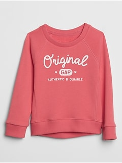 Toddler Graphic Crewneck Sweatshirt in French Terry