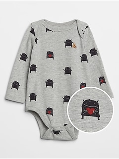 Baby Dinosaur Long Sleeve Bodysuit