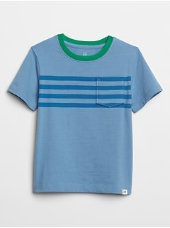 Chest-Stripe Pocket T-Shirt