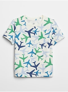 Print Short Sleeve Pocket T-Shirt
