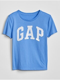 Kids Flippy Sequin Gap Logo T-Shirt