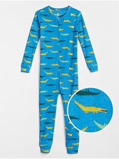 babyGap Alligator Print Sleep Union Suit