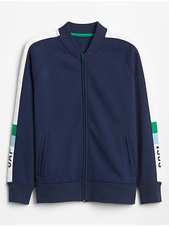 Kids Gap Logo Side-Stripe Track Jacket