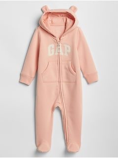 25d204857d07 Baby Gap Logo Footed One-Piece