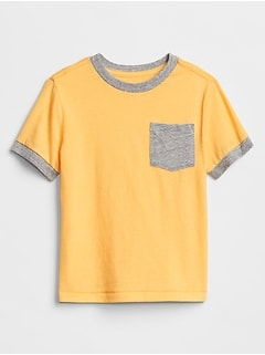 Toddler Contrast-Trim Pocket T-Shirt