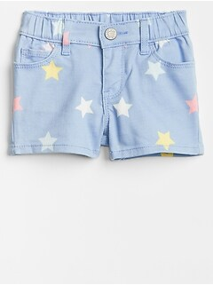 Toddler Pull-On Stars Shorts in High Stretch