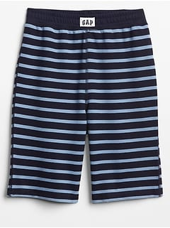 Stripe French Terry PJ Shorts