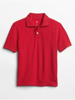 Kids Short Sleeve Pique Polo