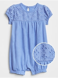 Eyelet Shorty One-Piece