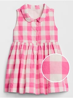 Baby Gingham Sleeveless Dress