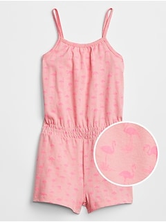 Toddler Print Cinched-Waist Romper