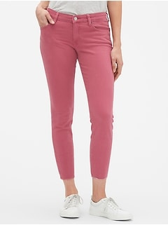 Mid Rise Legging Skimmer Jeans in Color