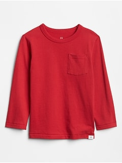 Toddler Long Sleeve Pocket T-Shirt