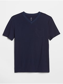 Kids V-Neck Pocket T-Shirt
