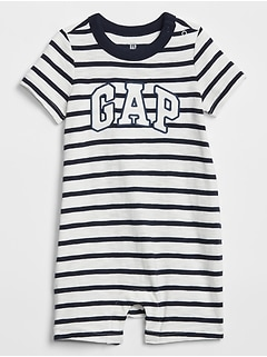 Baby Stripe Gap Logo Shorty One-Piece