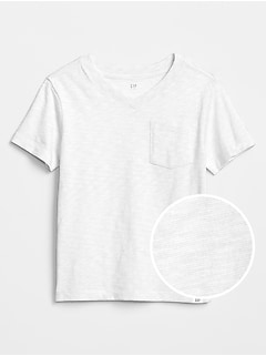 Toddler Pocket V-Neck T-Shirt