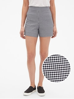 "High Rise 4"" Pattern Side-Zip Shorts"