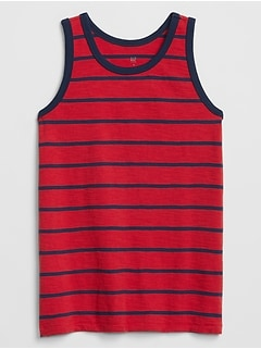 Kids Stripe Tank in Slub