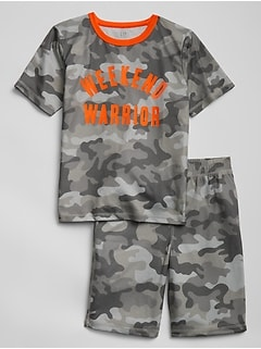 Camo Graphic Short PJ Set