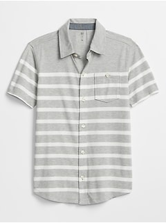 Kids Stripe Jersey Short Sleeve Shirt