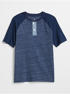 Kids Colorblock Henley T-Shirt
