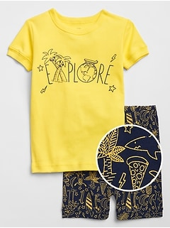 babyGap Graphic Short Pajama Set
