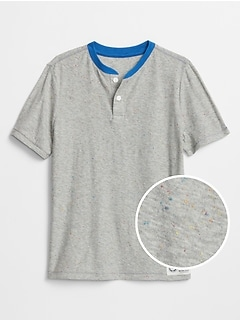 Kids Henley Short Sleeve T-Shirt