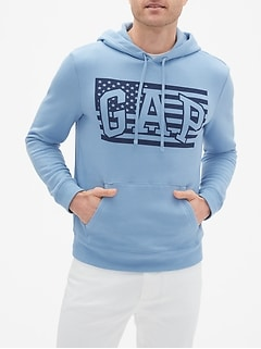 Flag Arch Logo Pullover Hoodie