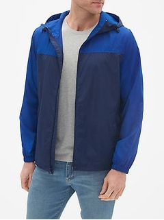 Packable Colorblock Windbreaker