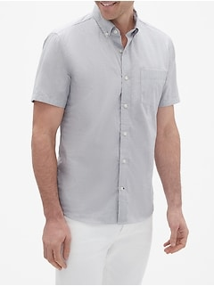 Short Sleeve Shirt in Poplin