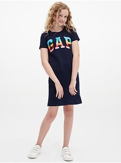 Kids Flippy Sequin T-Shirt Dress