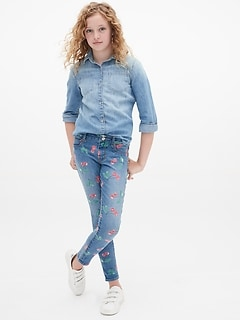 Kids High Stretch Cherry Print Jeggings