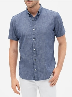 Short Sleeve Shirt in Chambray