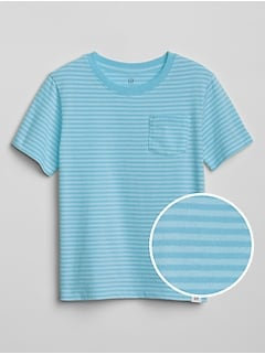 Toddler Stripe Crewneck Pocket T-Shirt
