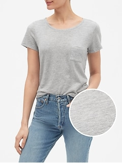 Easy Scoopneck T-Shirt in Slub