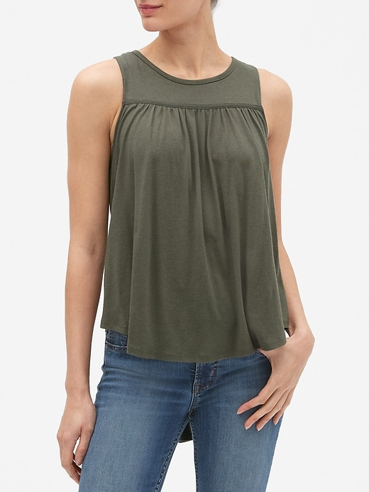 7bd7d49038 Shirred Tank Top in Cotton Modal