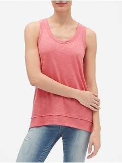 Easy Tunic Tank Top in Slub